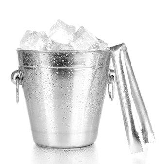 흰색 절연 금속 얼음 양동이