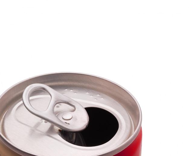 Metal jar of a drink