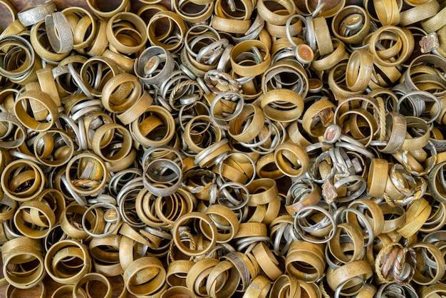 Metal jewelry handmade. copper rings.
