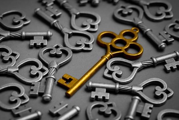 オンラインで成功するビジネスコンセプトのメタルキー