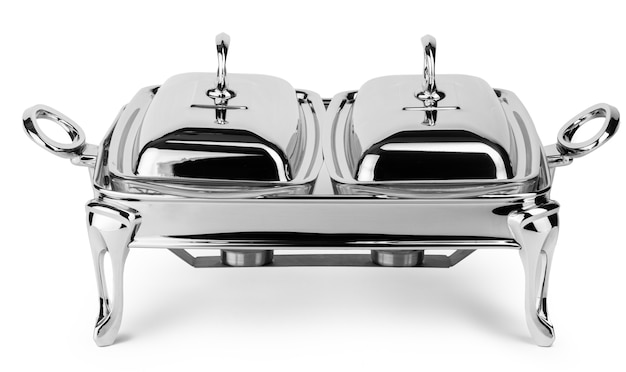 Metal kitchenware for food catering service buffet