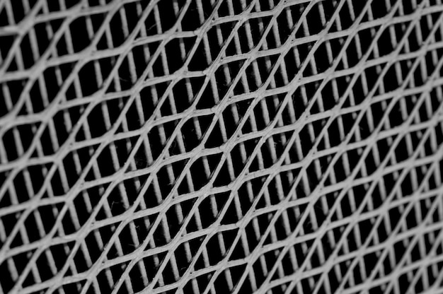 Metal lattice texture close-up.