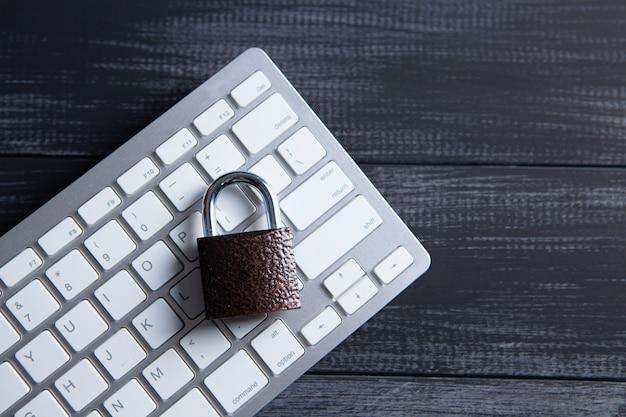 Metal lock on the keyboard