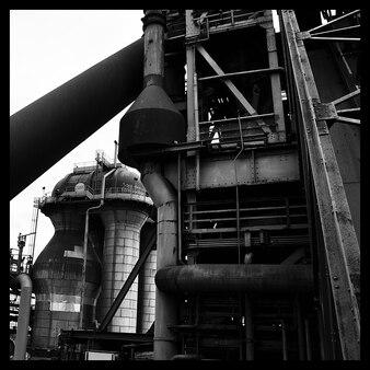 Metal loved work industry furnace blast