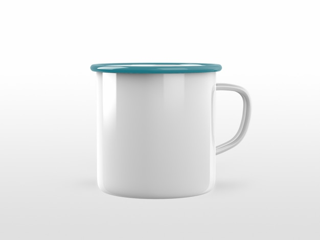 Metal mug mock-up template