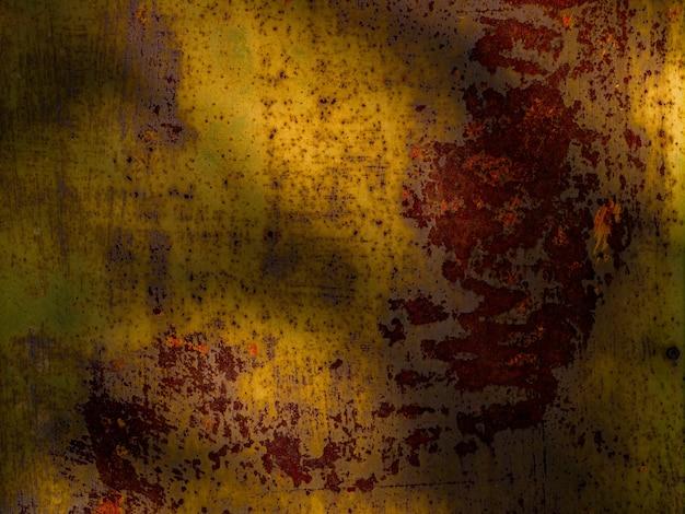금속 오래 된 녹슨 질감 페인트 배경, 자연 채광