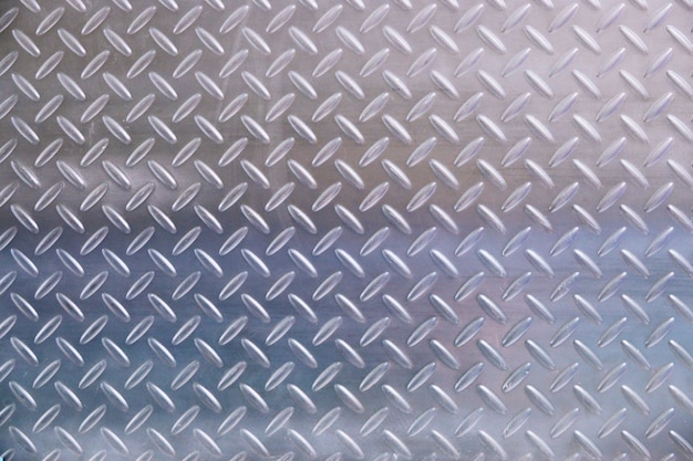 Metal plate in silver color background