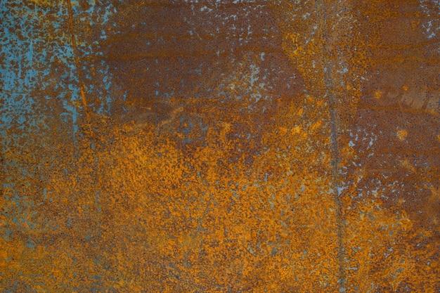 オレンジ色、背景の質感を持つ金属のさびた表面。