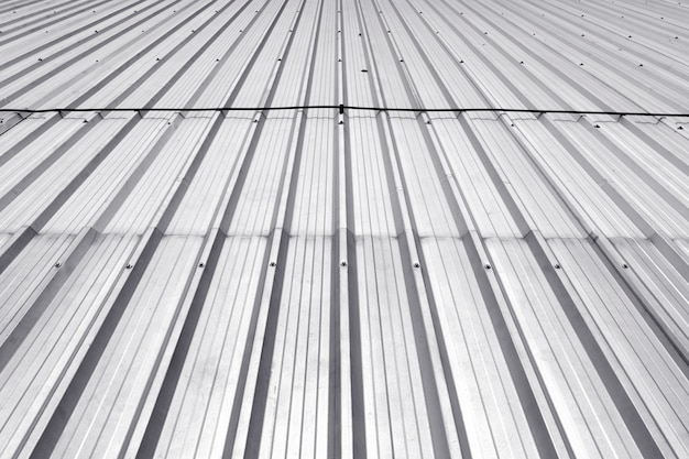 Metal sheet roof, corrugated metal texture surface or galvanize steel background