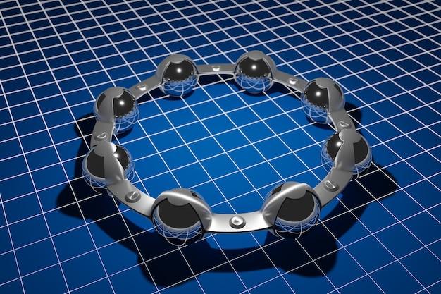 Metal silver ball bearing