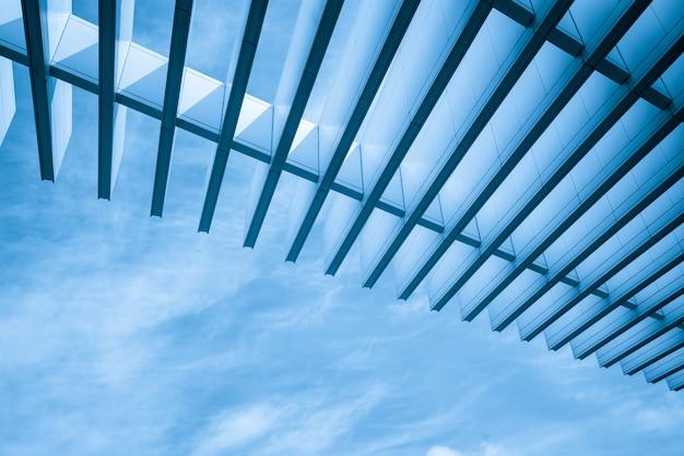 Metal skylight structure of art center building