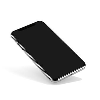 Metal smartphone mock-up isolated