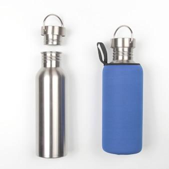 Металлические стальные фляги для воды