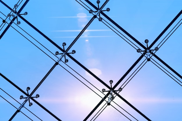 Struttura in metallo di costruzione moderna