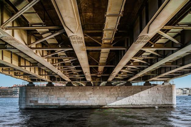 상트페테르부르크 다리 아래 금속 구조