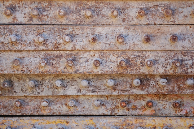 녹슨 철 건설 조각에서 금속 질감 배경