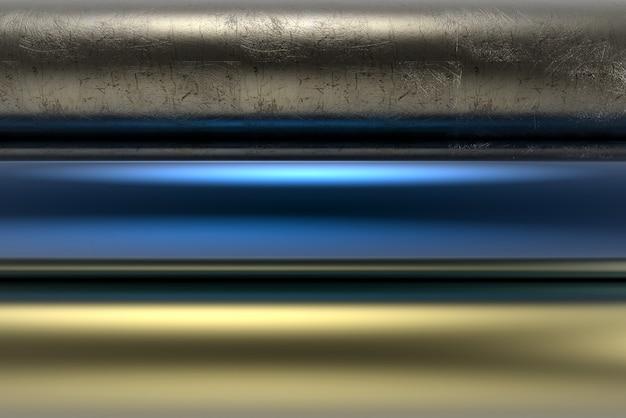金属テクスチャ背景技術ブラシをかけられた磨かれた銀鋼アルミニウムシリンダー表面