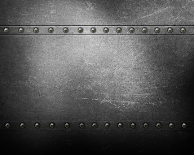 Metal texture background with rivets