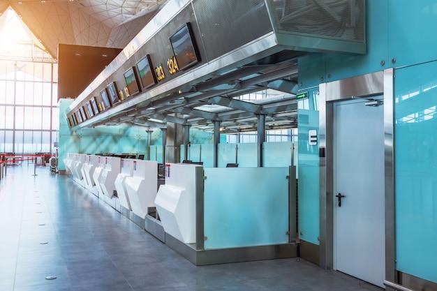 Metal walkway in the corridor of the building.