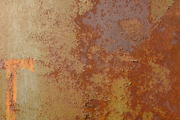 錆びた金属壁。金属腐食。高品質の写真