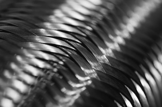 Metal wire braiding.