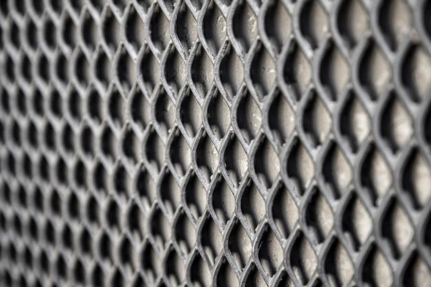 회색 톤의 금속 배경 울타리