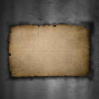 Metallic background with old grunge paper texture