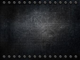 Metallic background with screws