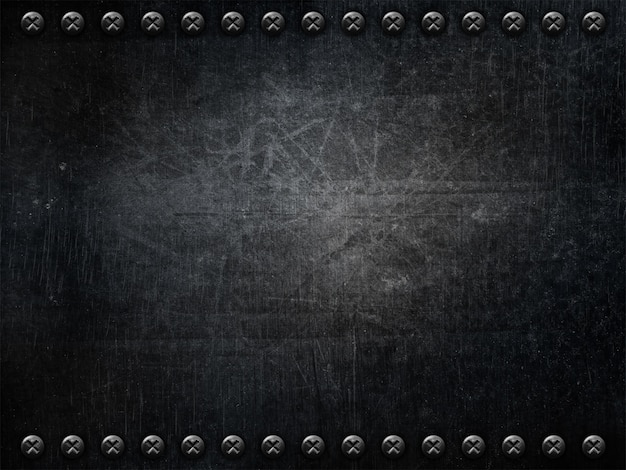 Metallic background with screws