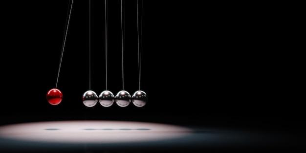 Metallic balls mechanism in the spotlight isolated
