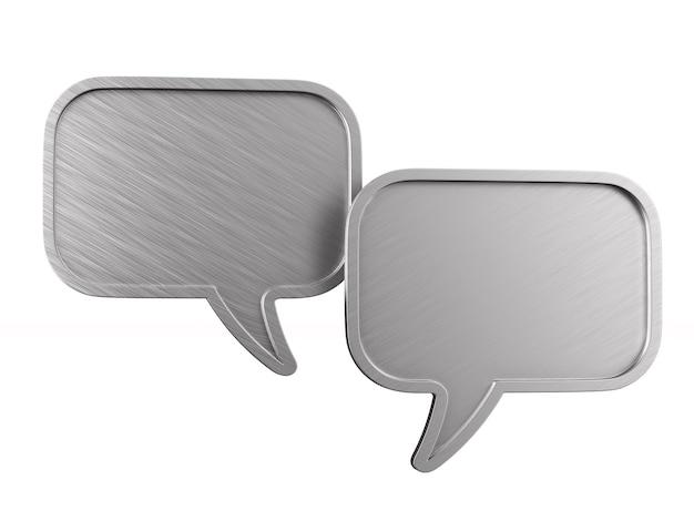 金属の泡は空白で話します。分離された3dイラスト