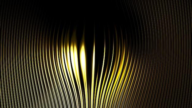 立体プリントのメタリックゴールドシルバーの背景。 3dイラスト、3dレンダリング。
