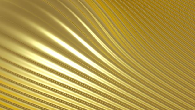 立体プリントのメタリックゴールドシルバー