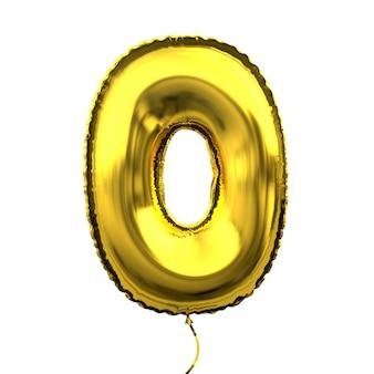 メタリックゴールデンレターバルーン数字桁番号