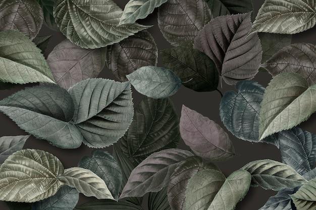 Metallic green leaves textured