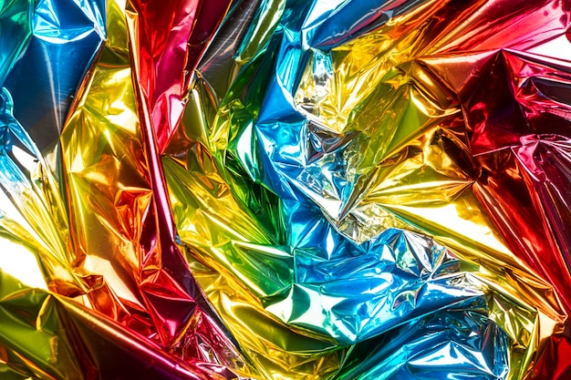 Sfondo olografico metallico