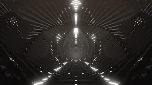 Металлический светлый будущий фон для рекламы на сцене научно-фантастических и технологических инноваций