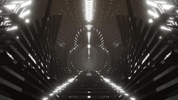 공상 과학 및 기술 혁신 장면의 벽지에 대한 밝은 미래 배경의 금속