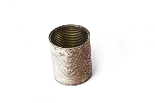 Metallic jar on white