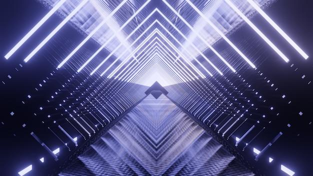 공상 과학 및 기술 혁신 장면에서 광고를위한 금속 빛 미래 배경