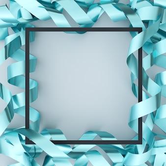 Металлический змеевик на белом фоне. 3d иллюстрация