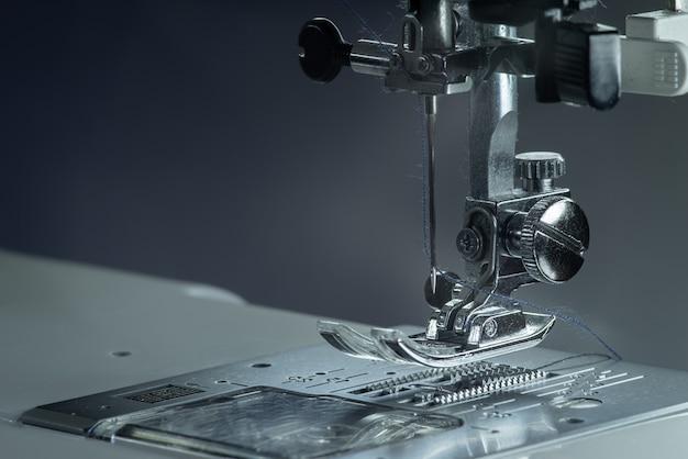 Metallic sewing machine foot.