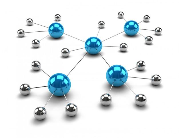 Металлические сферы связаны между собой