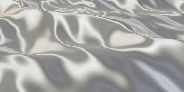 金属表面しわのある鉄のテクスチャしわのある表面の光沢のある3dイラスト