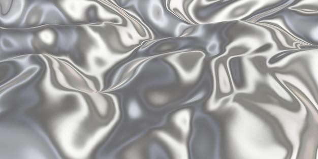 Металлическая поверхность морщинистый стальной лист пазы на оцинкованном листе 3d-иллюстрация