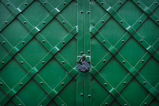Metallic texture green with lock