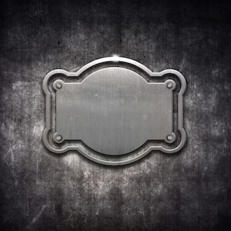 Metallic texture with a frame