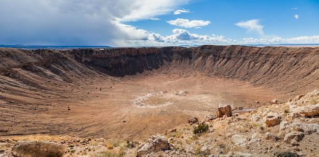 Meteor crater in arizona, panoramic view