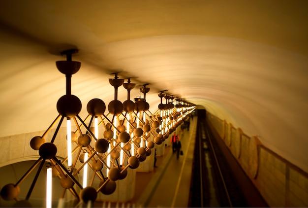 Освещение метро в московском метро объект фон hd