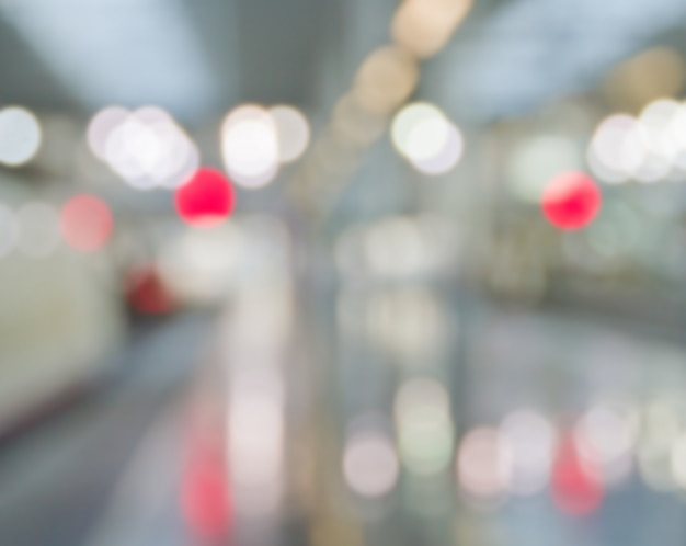 Metro station out of focus